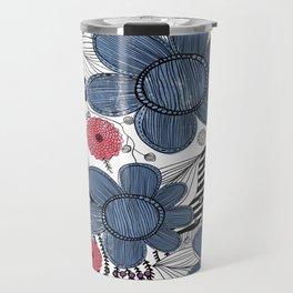 Whimsical Floral Pattern Travel Mug