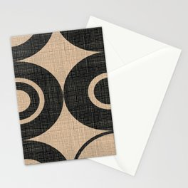 Black Orbs Stationery Cards