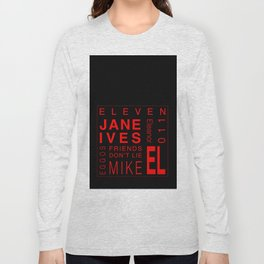 Eleven:Stranger Things - tvshow Long Sleeve T-shirt