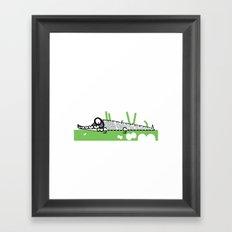 Crocodile Framed Art Print