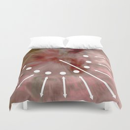 Line and pink Duvet Cover