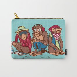 Three Wise Hipster Monkeys Carry-All Pouch