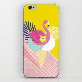 Pink Flamingo Summer Ice cream scoops #summervibes iPhone Skin