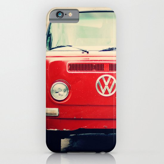 Red Vintage Bus iPhone & iPod Case