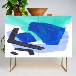 Ocean Torrent Whirlpool Teal Turquoise Blue Credenza