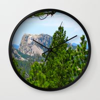 rushmore Wall Clocks featuring Mt. Rushmore by Irislynn