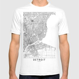 Detroit White Map T-shirt