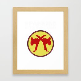 The Fighter's Sparring Tshirt Design SPARRING BETTER THAN THERAPY Framed Art Print