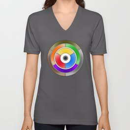 The theory of colouring - Diagram of colour by J. Bacon, 1866, Remake (no text) Unisex V-Neck