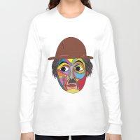 charlie chaplin Long Sleeve T-shirts featuring Charlie Chaplin by JeeArt