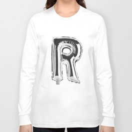 Letter R Long Sleeve T-shirt