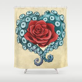 Octo Rose Love Shower Curtain