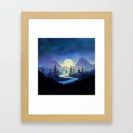 Touching the Stars Framed Art Print