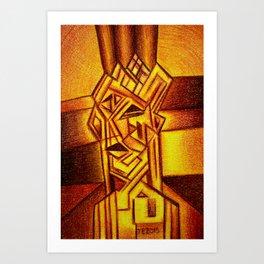Abstract Autoportrait Art Print