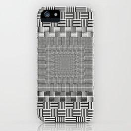 Black & White Basket Weave iPhone Case