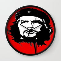 che Wall Clocks featuring CHE by favewavearts