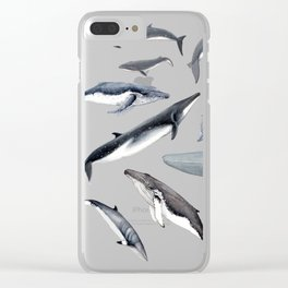 Whales all around Clear iPhone Case