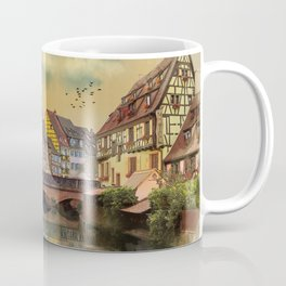 panorama city of Colmar France Coffee Mug