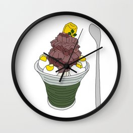 Marron Sundae Wall Clock