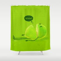lime green Shower Curtains featuring Lime by Lime