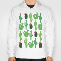 cacti Hoodies featuring Cacti patterns by Kirstie Eleanor