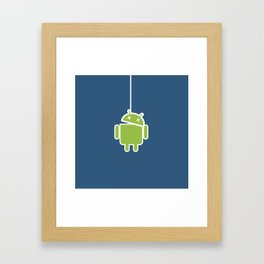 Hangdroid Framed Art Print