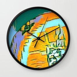 Summer Orange Beach Collection  Wall Clock