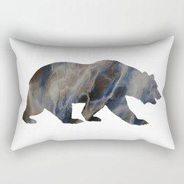 Marble Bear Silhouette Rectangular Pillow