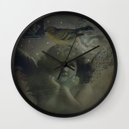 Angels watching over you Wall Clock
