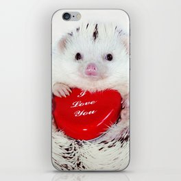 Hedgehog Valentine's Day card (request) iPhone Skin