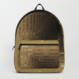 Marble's geometric tunnel in pearl color Backpack