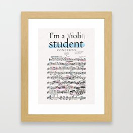 Violin student Framed Art Print