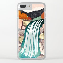 Autumn Falls Clear iPhone Case