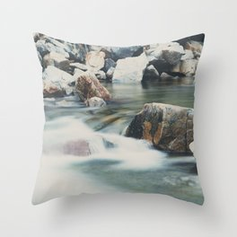 a mountain river ... Throw Pillow