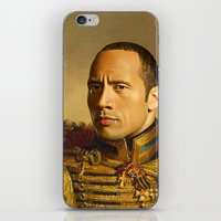 allyson johnson iPhone & iPod Skins featuring Dwayne (The Rock) Johnson - replaceface by replaceface