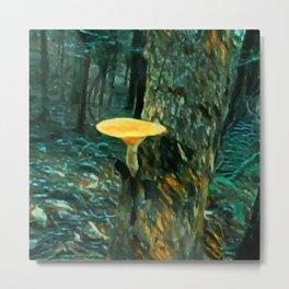 Mushroom Painting Metal Print