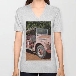 Old Fire Truck Unisex V-Neck