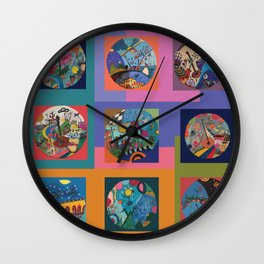 Life colors Wall Clock
