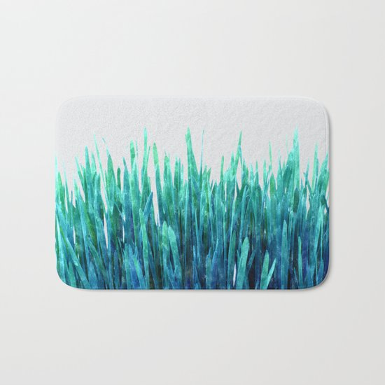 Glowing Grass #society6 #decor #lifestyle Bath Mat