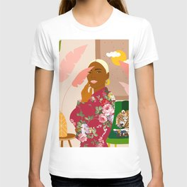 There's Peaceful. There's Wild. I'm Both At The Same Time #illustration T-shirt