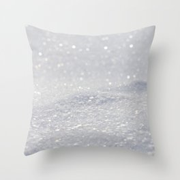 Silver Gray Glitter Sparkle Throw Pillow