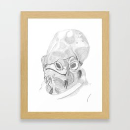 Admiral Ackbar. Framed Art Print