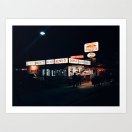 Pink's Hot Dogs Art Print