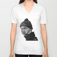 rap V-neck T-shirts featuring Rap God by ZARE