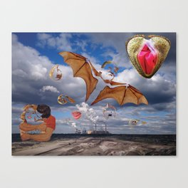 Bat shit crazy about you Canvas Print