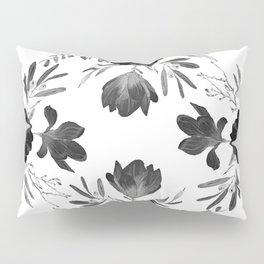 Floral Square Black & White Pillow Sham