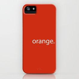 orange. iPhone Case