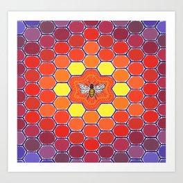 Bee Sacred Geometry Art Print