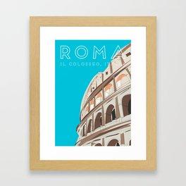 Rome, Italy Colosseum / Roma Il Colosseo, Italia Travel Poster Framed Art Print
