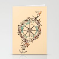 bon iver Stationery Cards featuring Bon Voyage by Norman Duenas